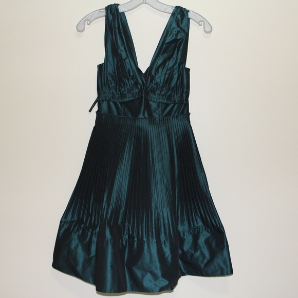Black and green cocktail dress